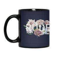 Floral Rude - black-mug - small view