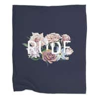 Floral Rude - blanket - small view