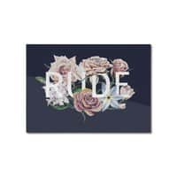 Floral Rude - horizontal-mounted-aluminum-print - small view
