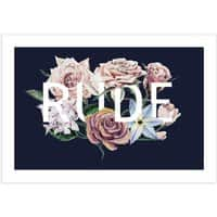 Floral Rude - horizontal-print - small view