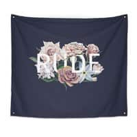 Floral Rude - indoor-wall-tapestry - small view