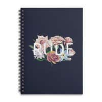 Floral Rude - spiral-notebook - small view