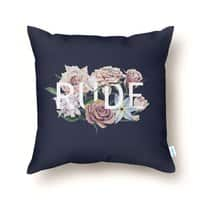 Floral Rude - throw-pillow - small view