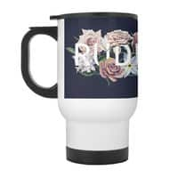 Floral Rude - travel-mug-with-handle - small view