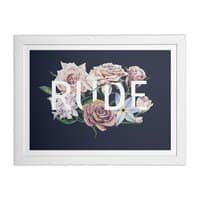 Floral Rude - white-horizontal-framed-print - small view