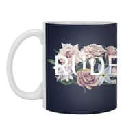 Floral Rude - white-mug - small view