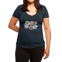 Floral Rude - womens-deep-v-neck - small view