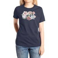 Floral Rude - womens-extra-soft-tee - small view