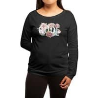 Floral Rude - womens-long-sleeve-terry-scoop - small view