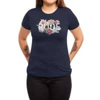 Floral Rude - womens-triblend-tee - small view