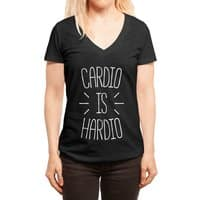 Cardio is Hardio - womens-deep-v-neck - small view