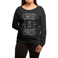 Cardio is Hardio - womens-long-sleeve-terry-scoop - small view