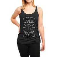 Cardio is Hardio - womens-triblend-racerback-tank - small view
