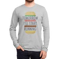 Tomorrow I'll Start Running - mens-long-sleeve-tee - small view