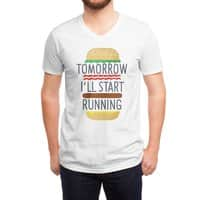 Tomorrow I'll Start Running - vneck - small view