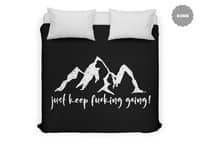 Just Keep Fucking Going - duvet-cover - small view