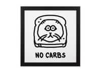 No Carbs - black-square-framed-print - small view