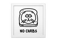 No Carbs - white-square-framed-print - small view