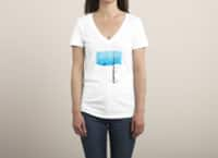 Lonely Tree - womens-deep-v-neck - small view