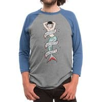 Sailor Merman Tattoo - triblend-34-sleeve-raglan-tee - small view