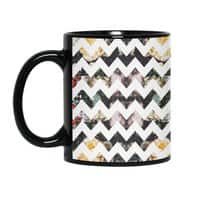 Her Garden Chevron - black-mug - small view