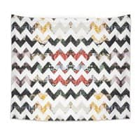Her Garden Chevron - indoor-wall-tapestry - small view