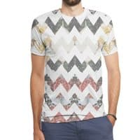 Her Garden Chevron - mens-sublimated-triblend-tee - small view