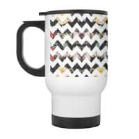 Her Garden Chevron - travel-mug-with-handle - small view