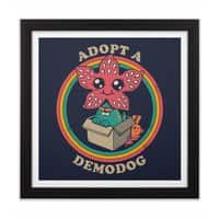 Adopt a Demodog - black-square-framed-print - small view