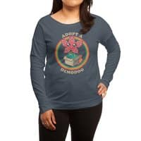 Adopt a Demodog - womens-long-sleeve-terry-scoop - small view