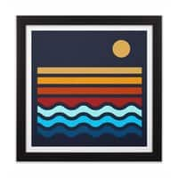 Beach Stack - black-square-framed-print - small view