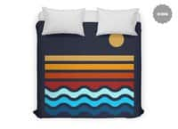 Beach Stack - duvet-cover - small view
