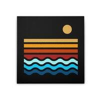 Beach Stack - square-stretched-canvas - small view