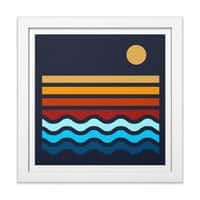 Beach Stack - white-square-framed-print - small view