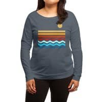 Beach Stack - womens-long-sleeve-terry-scoop - small view