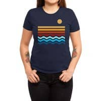 Beach Stack - womens-triblend-tee - small view