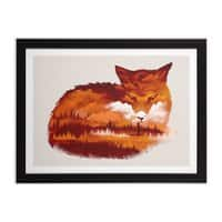 The Girl in the Red Forest - black-horizontal-framed-print - small view