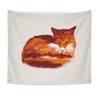 The Girl in the Red Forest - indoor-wall-tapestry - small view
