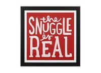 The Snuggle is Real - black-square-framed-print - small view