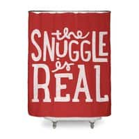 The Snuggle is Real - shower-curtain - small view
