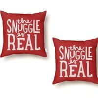 The Snuggle is Real - throw-pillow - small view