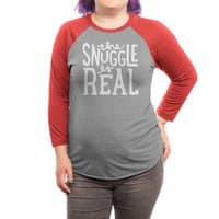 The Snuggle is Real - triblend-34-sleeve-raglan-tee - small view