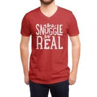 The Snuggle is Real - vneck - small view