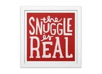 The Snuggle is Real - white-square-framed-print - small view