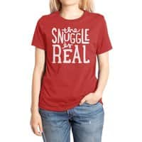 The Snuggle is Real - womens-extra-soft-tee - small view