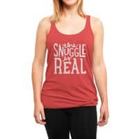 The Snuggle is Real - womens-triblend-racerback-tank - small view