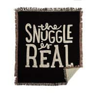 The Snuggle is Real - woven-blanket - small view