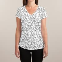 Spooks - womens-sublimated-v-neck - small view