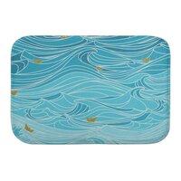 golden paper ships - bath-mat - small view