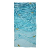 golden paper ships - beach-towel - small view